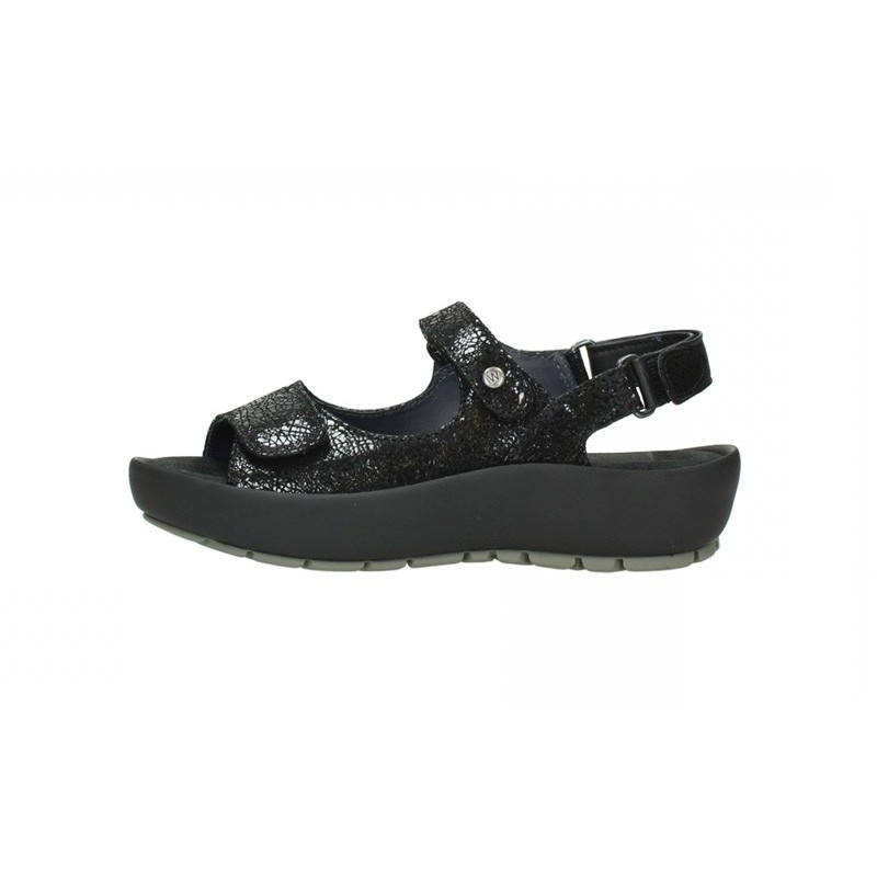 Wolky Rio Crash Leather Black