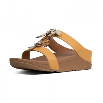 FitFlop Fino™ Slide Dragonfly Yellow