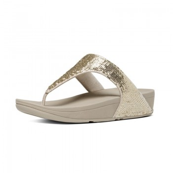 FitFlop Electra™ Micro Toe Post Pale Gold