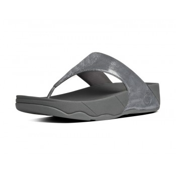 FitFlop Chi™ Leather Slide Sandals Black