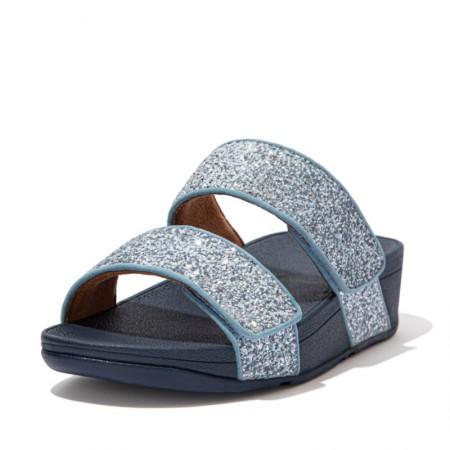 FitFlop Mina™ Slide Glitter Mix Porcelain Blue